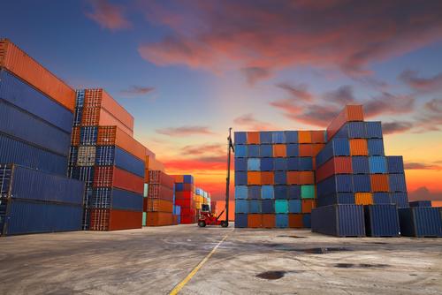 Transport ładunku w kontenerze